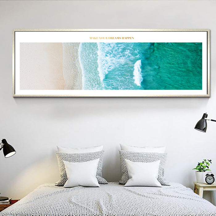 """Make Your Dreams Happen"" Coastal Wall Art"