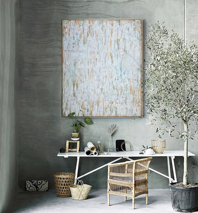 2016 Simple Pure Nordic Naturism Abstract Wall Art Modern Oil Painting Canvas for Home Living Room Decoration