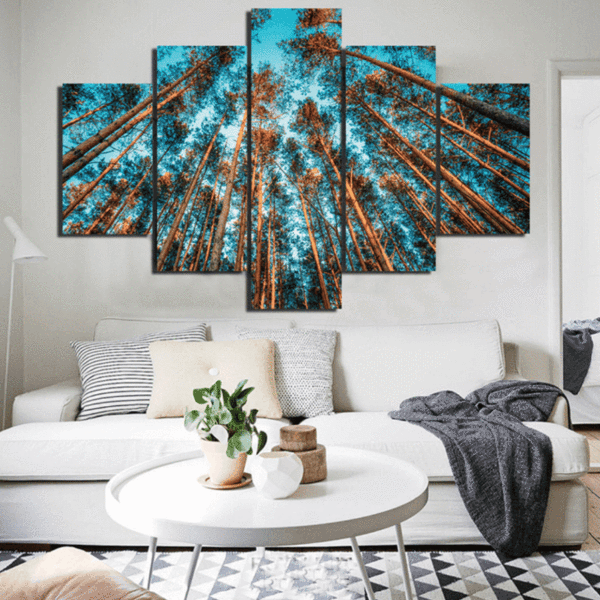 5 Panel Nordic Forest Canvas Spray Painting