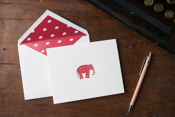 Crimson Elephant Card
