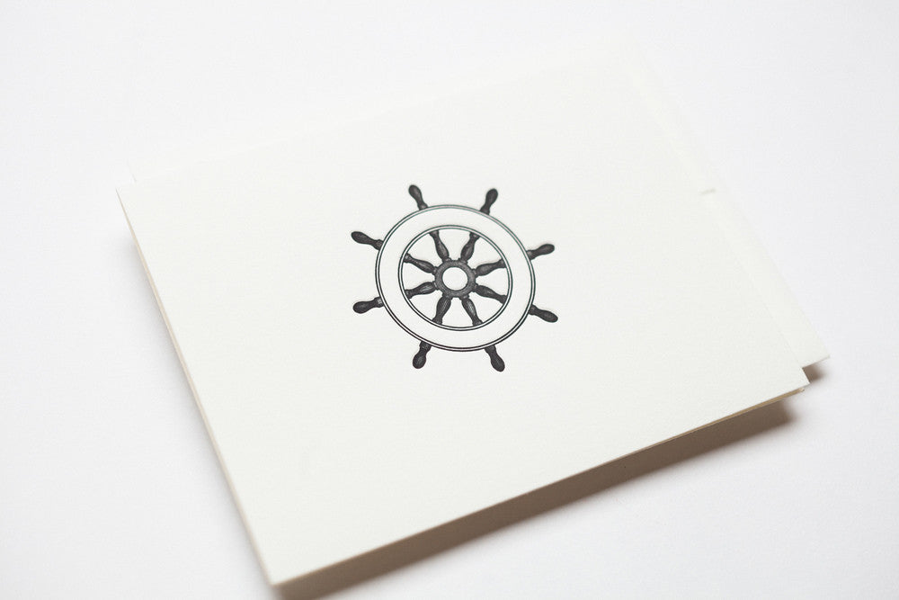 At the Helm Card