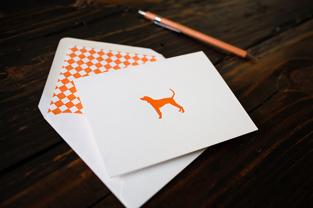 Orange Hound Card