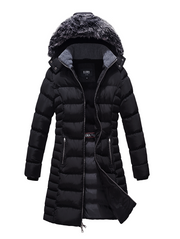 Mid Length Ladies Coat with Fleece Lining - The Whole Shebang