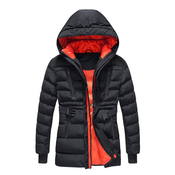 THE WHOLE SHEBANG BELTED PUFFER COAT