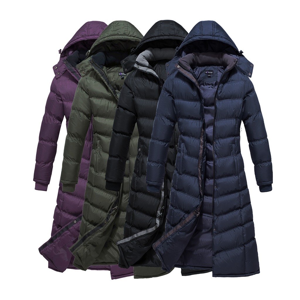 Full Length Ladies Water Resistance Puffer Coat