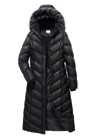 Full Length Coat with Detachable Hood