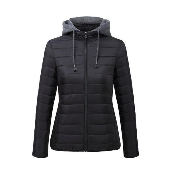 Women's puffer Coat with Detachable fleece hood