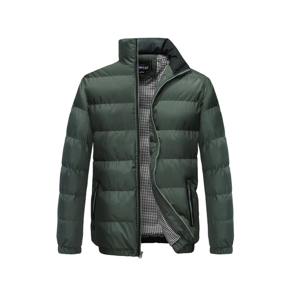 Men's Classic Puffer  Coat Water Resistant- Olive