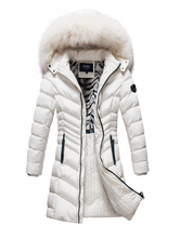 Load image into Gallery viewer, Women's Parka With Faux-Fur Trim And Removable Hood