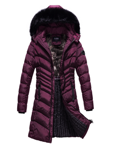 Women's Parka With Faux-Fur Trim And Removable Hood