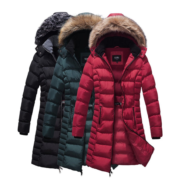 Mid Length Ladies Coat with Fleece Lining