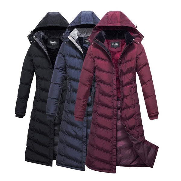 Full Length Puffer Coat with Hood