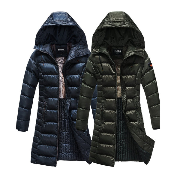 Women's Winter Coat With Faux Fur And Quilted Lining ***FREE WORLDWIDE SHIPPING****