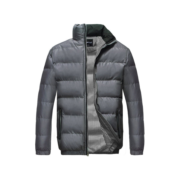 Men's Classic Puffer  Coat Water Resistant- Grey
