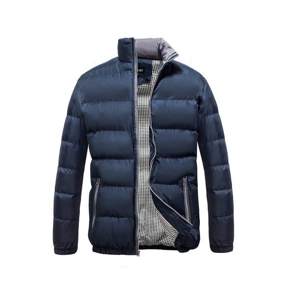 Men's Classic Puffer  Coat Water Resistant- Navy