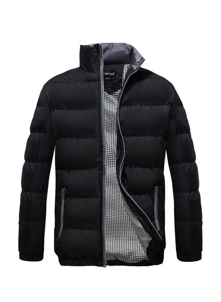 Men's Classic Puffer  Coat Water Resistant- Black