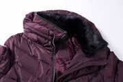 Faux Fur Funnel-Collar Puffer Coat - The Whole Shebang