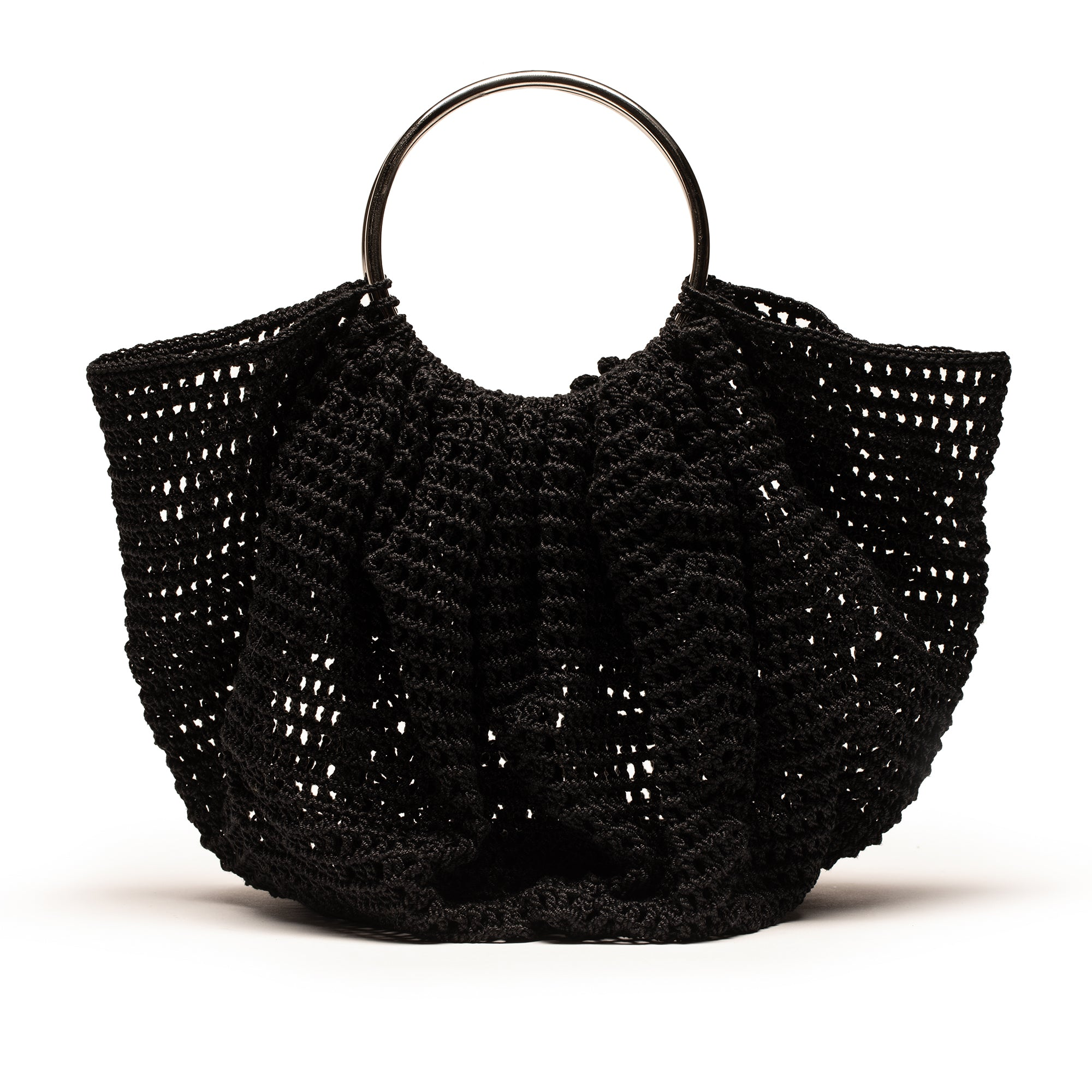 CROCHET BAG black