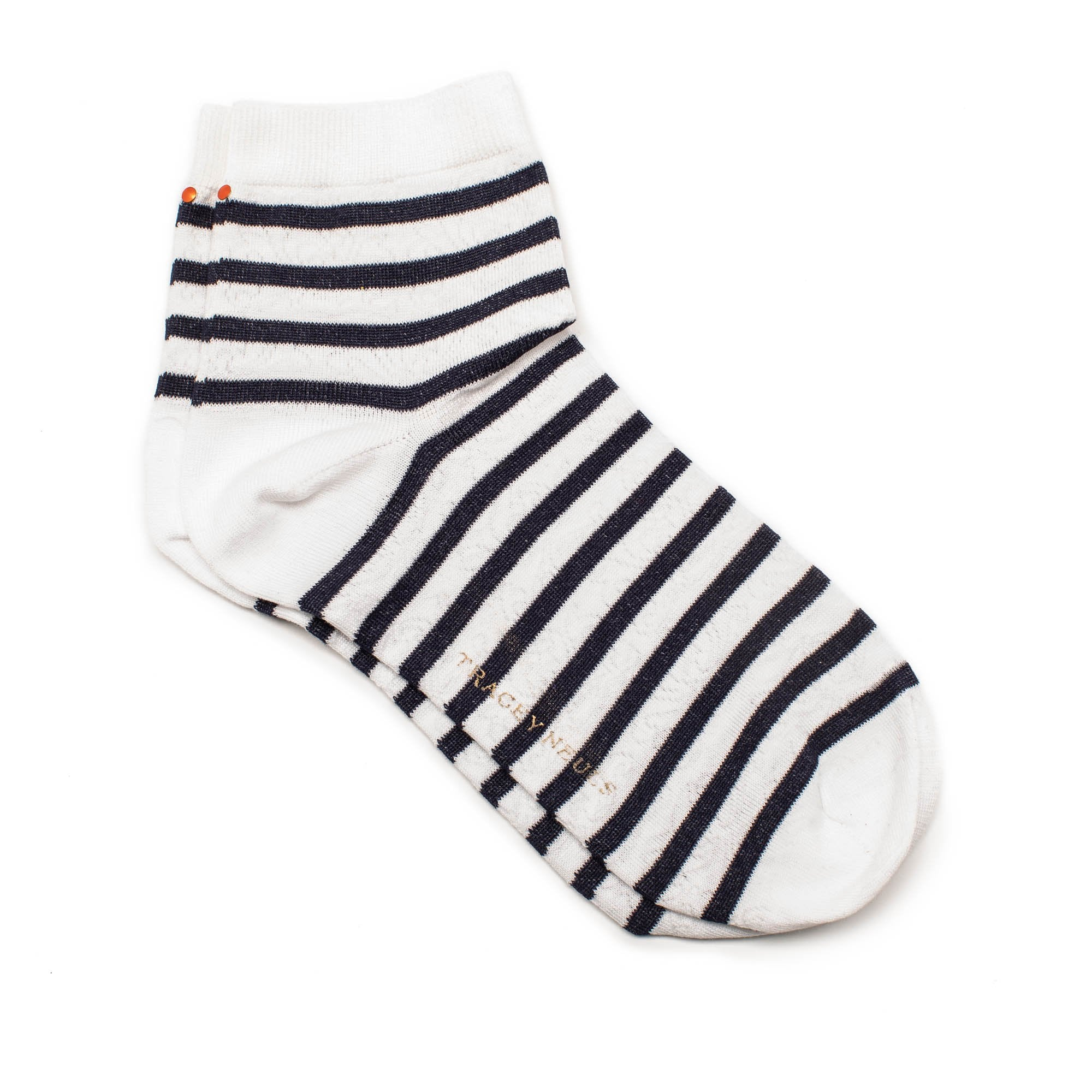 POPEYE Socks With White and Navy Stripes | Tracey Neuls