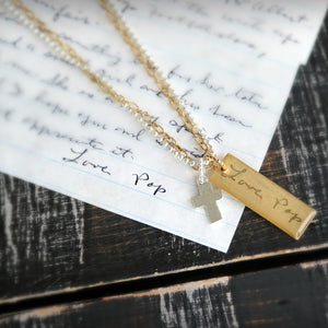 Handwriting Jewelry | Double Strand Charm Necklace