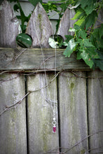 Load image into Gallery viewer, Memory Flower Jewelry | Long Crystal Drop Necklace