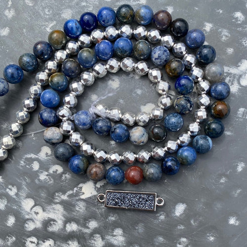 Jewelry Kit | Sunset Dumortierite+Titanium Hematite