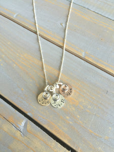 Personalized Jewelry | Simplistic Mixed Metal Mother's Necklace