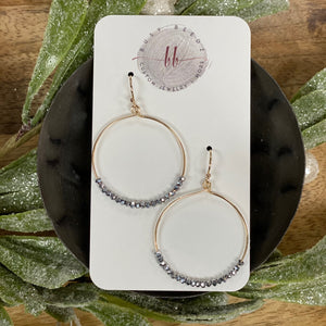 Hoop Earrings | 30mm Hoop with Micro Charcoal