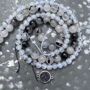 Jewelry Kit | Tourmalated Quartz+Tourmalated Moonstone