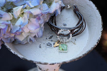 Load image into Gallery viewer, Memory Flower Jewelry | Leather Charm Bracelet