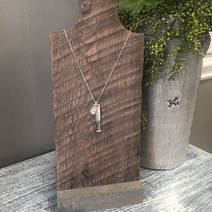 Handwriting Jewelry | Vertical Bar Fingerprint Necklace