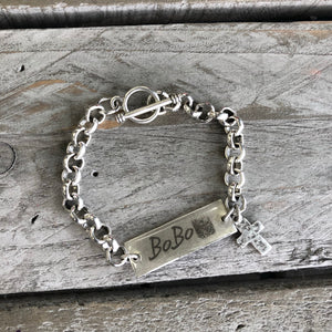 Handwriting Jewelry | Rolo Charm Bracelet