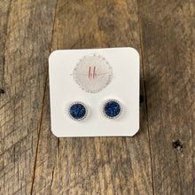 Load image into Gallery viewer, Druzy Jewelry | Halo Druzy Stud Earrings