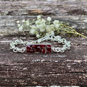 Memory Flower Jewelry | Mini Link Rolo Bracelet