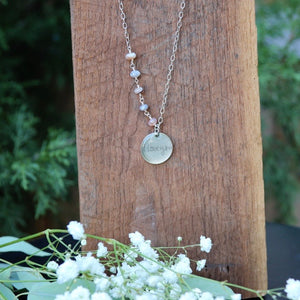 Handwriting Jewelry | Asymmetrical Agate Necklace