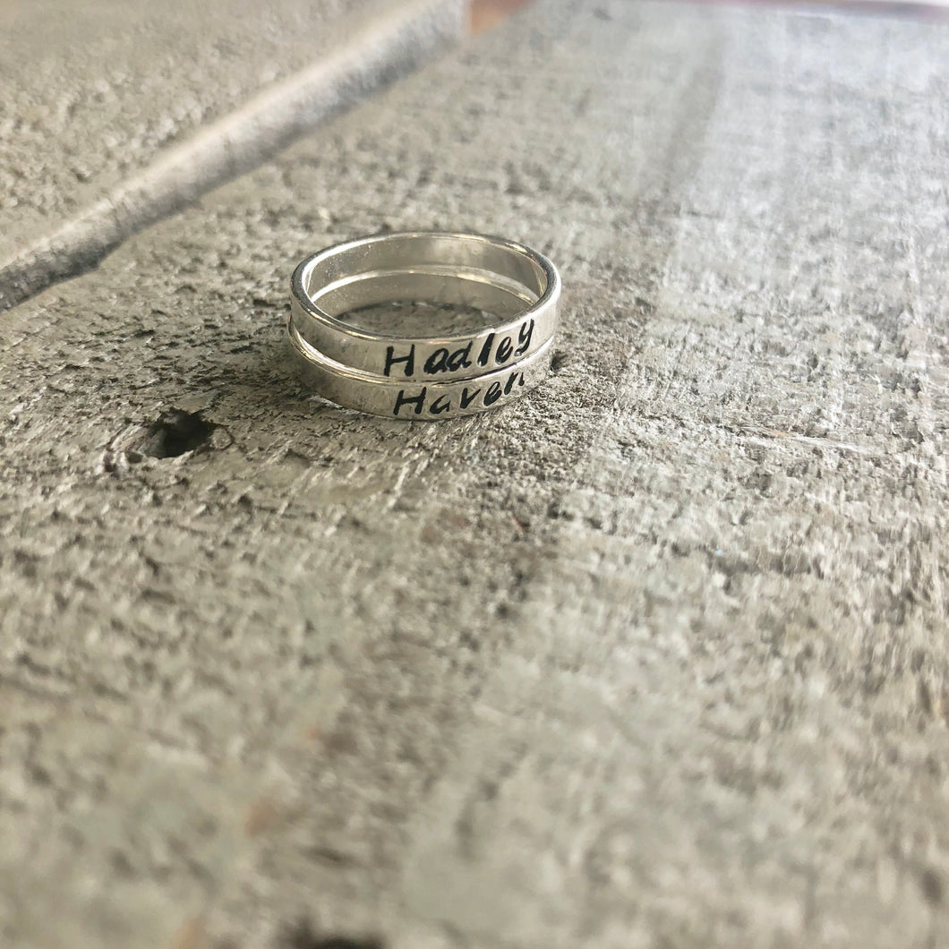 Personalized Jewelry | Sterling Stacking Rings