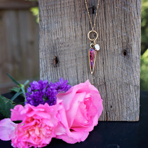 Memory Flower Jewelry | Inverted Drop Necklace