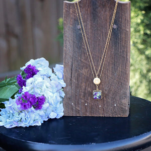 Memory Flower Jewelry | Layered Charm Necklace