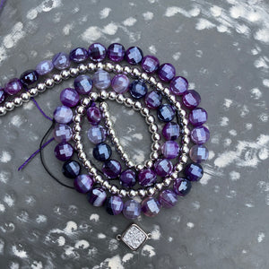 Jewelry Kits | Purple Mystic Agate+Hematite