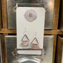 Load image into Gallery viewer, Triangle Tassel Earrings
