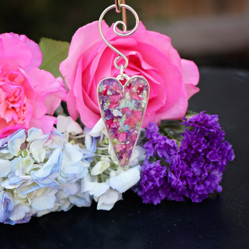 Memory Flower Jewelry | Heart Ornament