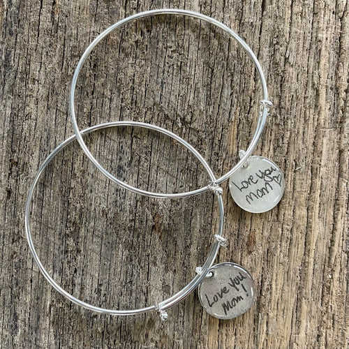 Handwriting Jewelry | Bangle Bracelet