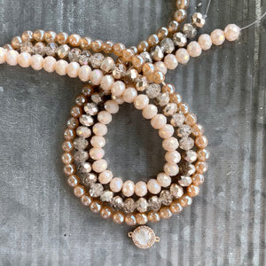 Jewelry Kit | Peach Agate + Crystal