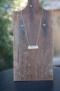 Handwriting Jewelry | Thin Horizontal Bar Necklace