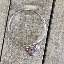 Load image into Gallery viewer, Personalized Jewelry | Initial druzy bangle