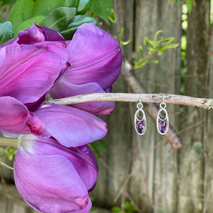 Memory Flower Jewelry | Split Pendant Earrings