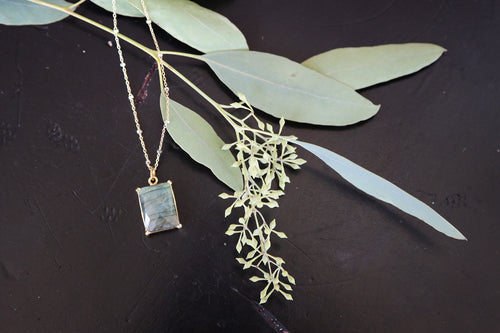 Gemstone Jewelry | Emerald Cut Pendant Necklace