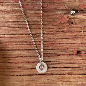 Personalized Jewelry | Initial Birthstone Necklace