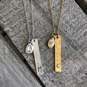 Personalized Jewelry | Swarovski Crystal Initial Necklace