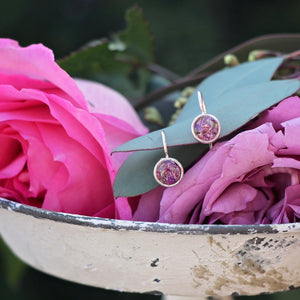 Memory Flower Jewelry | Itsy Round Earrings